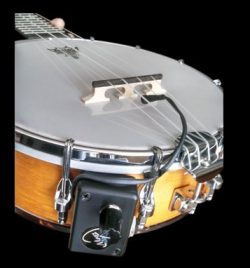 RESONATOR BANJO PICKUP with FLEXIBLE MICRO-GOOSE NECK by Myers Pickups ~ See it in ACTION! Copy  ...