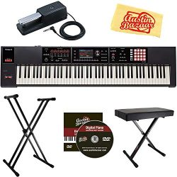 Roland FA-08 88-Note Music Workstation Bundle with Roland DP-10 Damper Pedal, Adjustable Stand,  ...
