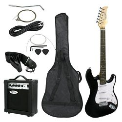 ZENY 39'' Full Size Electric Guitar with Amp, Case and Accessories Pack Beginner Starter Package ...