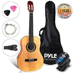 Beginner 30″ Classical Acoustic Guitar – 6 String Junior Linden Wood Traditional Gui ...