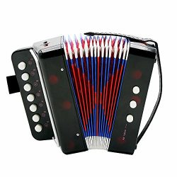 ammoon Kids Children 7-Key 2 Bass Mini Small Accordion Educational Musical Instrument Rhythm Ban ...