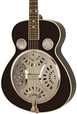 Rogue Classic Spider Resonator Black Roundneck