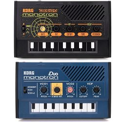 Korg Monotron Duo and Delay Analog Ribbon Synthesizer Synth Bundle