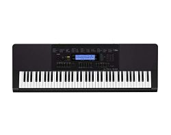Casio WK-245 76-Key Touch Sensitive Keyboard with Power Supply (Renewed)