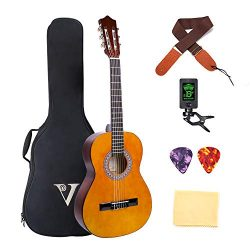 Classical Guitar 3/4 Size 36 inch Kids Guitar Acoustic Guitar for Beginners 6 Nylon Strings Guit ...