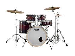 Pearl Decade DMP925SP/C261 5 Piece Drum Shell Pack, Gloss Deep Redburst