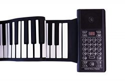iLearnMusic Roll Up Piano Premium Grade Silicone |THICKENED KEYS | Upgraded Built-in Amplifying  ...