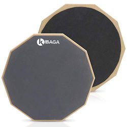 Double Sided Drum Pad 12″ – Silent Drum Practice Pad Provides A Great Rebound – ...
