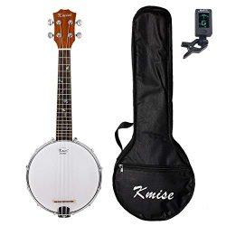 Kmise 4 String Banjo Ukulele Uke Concert 23 Inch Size Sapele With Bag Tuner (MI2232)
