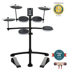 Roland Entry-level Electronic V-Drum Set (TD-1K) includes Free Wireless Earbuds – Stereo B ...