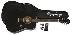 Epiphone FT-100 Acoustic Guitar Player Pack, Ebony