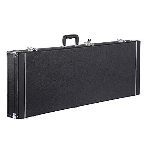 yaheetech electric guitar hard shell case portable square guitar case for standard electric. Black Bedroom Furniture Sets. Home Design Ideas