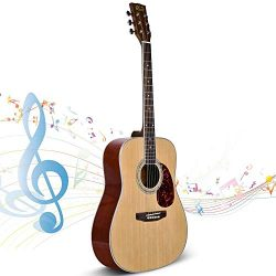 Beginner Guitar, Lico 41 Inch Acoustic Guitar Starter Pack with Gig Bag, Tuner, Strings, Strap,  ...