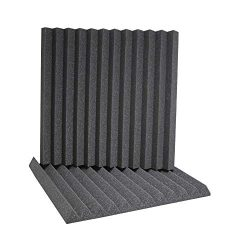 ATS Wedge Foam Acoustic Panels (Charcoal) – 24x24x2 (6pk)