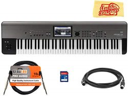 Korg KROME-EX 73-Key Music Workstation Keyboard & Synthesizer Bundle with SD Card, Instrumen ...