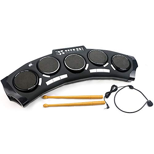 Rong Fa 5-Pad Tabletop Electronic Drum Kit for Kids, 14 Rhythms Drum Set for Children and Toddle ...