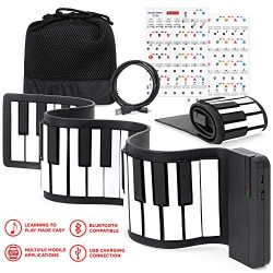 Best Choice Products Kids 49-Key Portable Flexible Roll-Up Piano Keyboard Musical Educational To ...