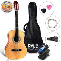 "Beginner 36"" Classical Acoustic Guitar – 6 String Junior Linden Wood Traditional Guitar w/ ..."