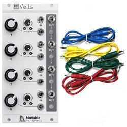 Mutable Instruments Veils Eurorack Module- Quad VCA w/ 4 Cables