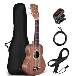 Beginner Ukulele, Soprano Ukulele Lico 21 inch Hawaiian Uke Mini Guitar Starter Kit Musical Inst ...