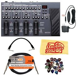 Boss ME-80 Multi-Effect Pedal Bundle with Power Supply, Instrument Cable, Patch Cable, 24 Picks, ...