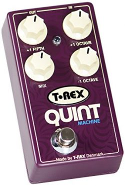 T-Rex Engineering QUINT-MACHINE Pitch Guitar Effects Pedal with Fully Adjustable Octave Up, Octa ...