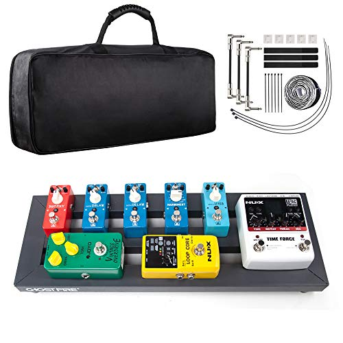 Vangoa Guitar Effect Pedal Board Aluminum Alloy Pedalboard with Bag, 19.53 x 7.1 x 1.57 inch
