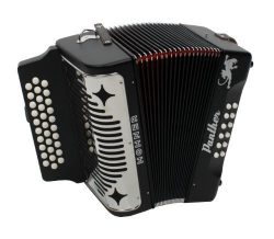 Hohner Panther Diatonic Accordion, Negro Key of FA w/Free Gig Bag