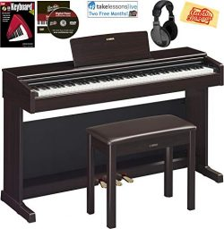 Yamaha Arius YDP-144 Traditional Console Digital Piano – Rosewood Bundle with Furniture Be ...