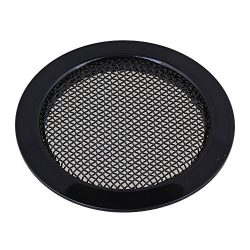 "lovermusic Black 2.36"" Dia Dobro Guitar Resonator Screen Speaker Grille Sound Hole Cover"