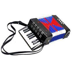 Children Accordion Instrument,Christmas Kids 17-Key 8 Bass Mini Accordion Educational Piano Perc ...