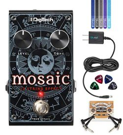 DigiTech Mosaic Polyphonic 12-String Effect Pedal Bundle with Blucoil 9V DC Power Supply with Sh ...