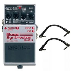 Boss SYB-5 Bass Synthesizer and 2 Roland Black Series 6 inch Patch Cables