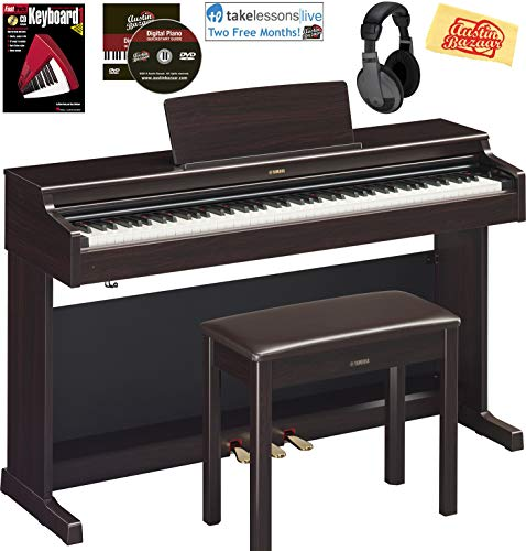 Yamaha Arius YDP-164 Traditional Console Digital Piano – Rosewood Bundle with Furniture Be ...