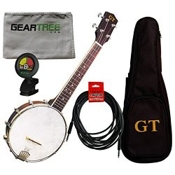 Gold Tone BU-1 Concert Banjo Ukulele with Pickup w/Gig Bag, Tuner, Polish Cloth