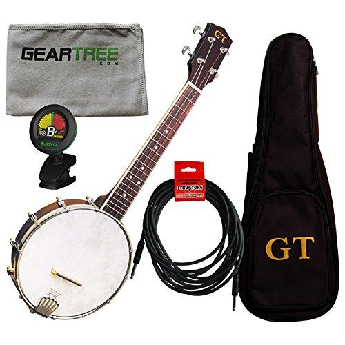 Gold Tone BU-1 Concert Banjo Ukulele with Pickup w/Gig Bag, Tuner, Polish Cloth