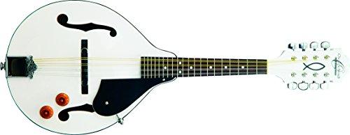 Oscar Schmidt OM10EWH-O-U 8-String A-Style, Electric Mandolin. White Finish