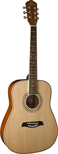 Oscar Schmidt OG1LH-A-U Natural Lefty 3/4 Size Dreadnought Guitar. Left Hand