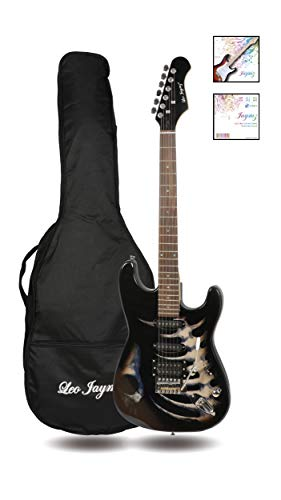 39 full size st style electric guitar black skull sticker graphic design hss pickups with. Black Bedroom Furniture Sets. Home Design Ideas