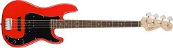 Squier by Fender Affinity P/J Beginner Electric Bass Guitar – Rosewood Fingerboard, Race Red