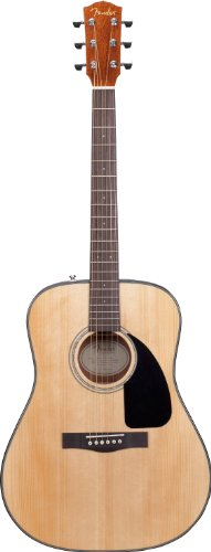 Fender DG-8S Solid Spruce Top Dreadnought Acoustic Guitar Pack with Gig Bag, Tuner, Strings, Pic ...