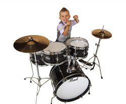 Pearl Roadshow Drum Set, Black, 16″/13″/10″/8″/12″ (RSJ465CC31)