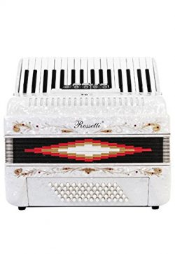 Rossetti Piano Accordion 72 Bass 34 Keys 5 Switches White