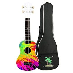 zimo 21 Inch Ukulele Kit Soprano Ukulele 4 String Hawaii Concert Ukulele with Carrying Gig Bag