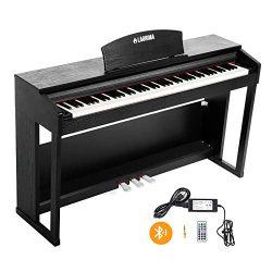 LAGRIMA 88 Key Weighted Digital Piano w/Bluetooth&MP3 Function, Remote Control, Power Supply ...
