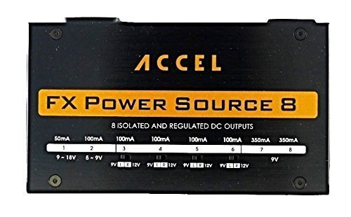 Accel Power Source 8 Isolated Output Pedal Power Supply for Guitar Effects Pedals