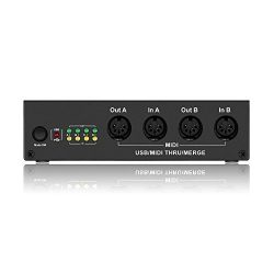 4in/4out MIDI Interface – DriverGenius USB MIDI Interface with Standalone MIDI-Merge 2in/4 ...