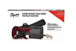 Squier by Fender Affinity Stratocaster Beginner Pack, Laurel Fingerboard, Candy Apple Red, with  ...
