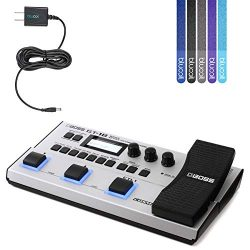 BOSS GT-1B Bass Effects Processor Bundle with Blucoil Power Supply Slim AC/DC Adapter for 9 Volt ...
