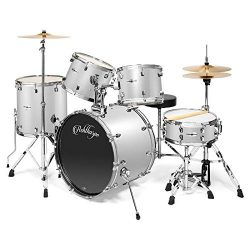 Ashthorpe 5-Piece Full Size Adult Drum Set with Remo Heads & Premium Brass Cymbals – C ...